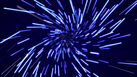 Hyperspace flight Animation