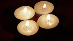 Flickering Candle Lights In A Romantic Setting, Valentine's Day, Initimacy Footage