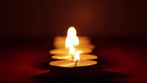 Beautiful Candles In A Romantic Setting, Valentine's Day Candles, Tilt Footage