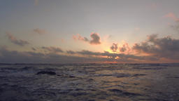 Sunset from low above the ocean (time lapse, 4k) Footage