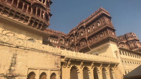 Jodhpur, India - majestic buildings of antiquity Live Action