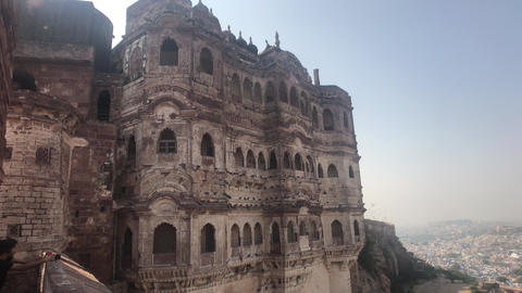 Jodhpur, India - powerful historical structure overlooking the city Live Action
