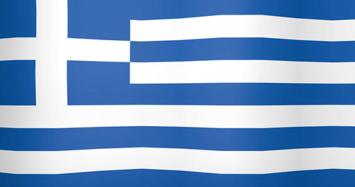Waving Flag of Greece Looping Background Live Action