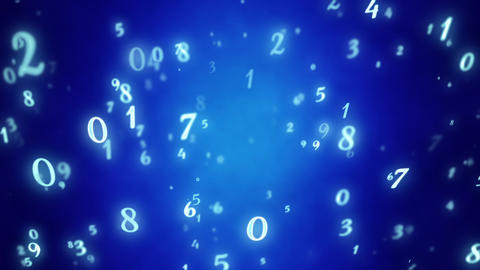 Numerology (secret knowledge about the numbers). Esoteric background with numbers. Soft focus and Animation