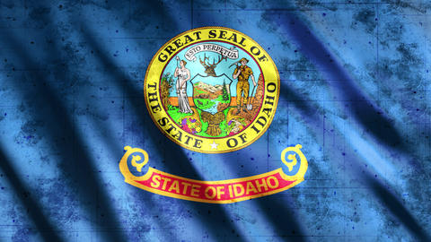 Idaho State Flag Grunge Animation