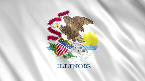 Illinois State Flag Animation