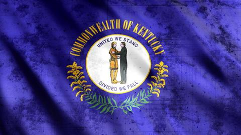 Kentucky State Flag Grunge Animation