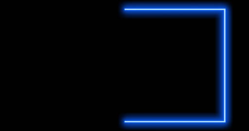 Blue mauve neon border using abstract glowing light makes frame. A flashing boundary for edging of Animation