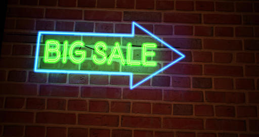 Big sale sign has discount offers or promotions for products and services - 4k Animation
