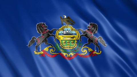 Pennsylvania State Flag Animation
