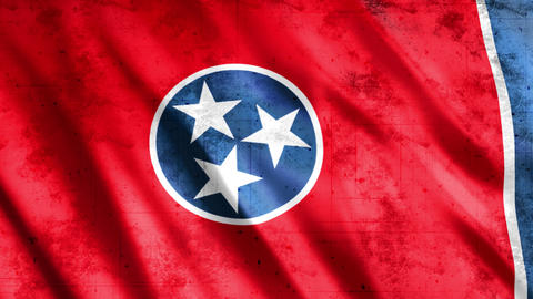 Tennessee State Flag Grunge Videos animados