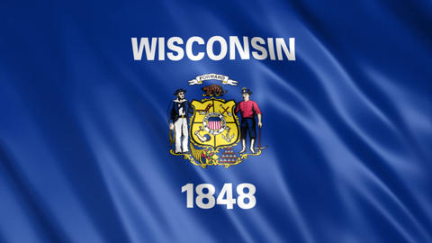 Wisconsin State Flag Animation