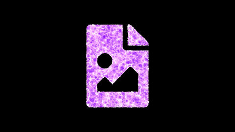 Symbol file image shimmers in three colors: Purple, Green, Pink. In - Out loop. Alpha channel Animation