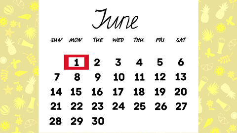 Calendar June Animation