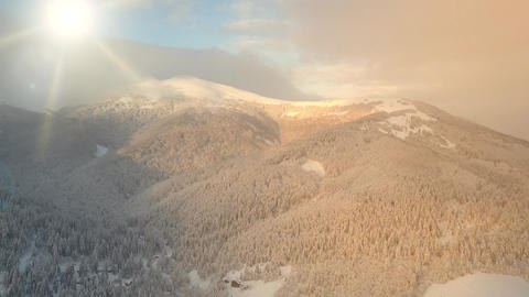 Slow remote shooting from above the most beautiful mountain system - Carpathians Live Action