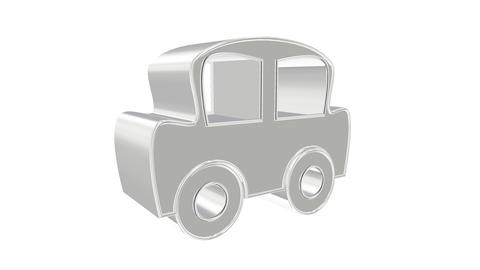 Holographic animation of 3D wireframe car model with engine and otter technical parts Animation