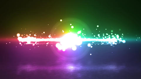 Flare rainbow Particle circle stroke light line effect Animation