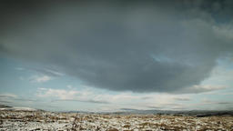 Bleak snow covered Moorland scene stock footage Live Action