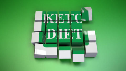 Keto diet-Cube Assembly Animation