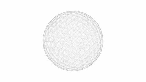 3d model of golf ball Animation