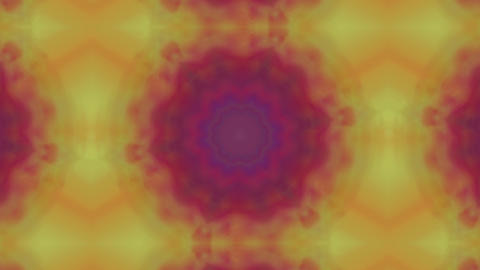 Organic fractal ornaments, colorful motion graphic for yoga videos Live Action