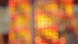 Defocussed Carousel Lights, Winter Fair, Merry Go Round Footage