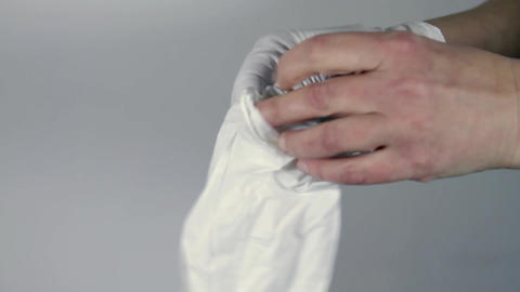 Woman Putting On Surgical Gloves, Hospital, Clinic, Hands Detail, Nurse, Doctor Footage