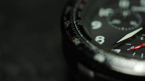Macro Shot Of A Wrist Watch Footage