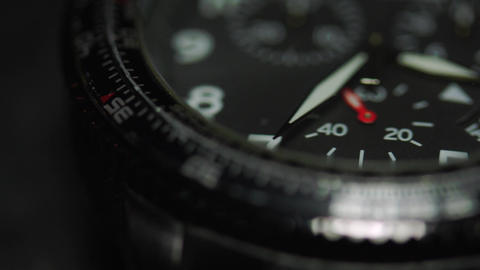 Macro Shot Of A Wrist Watch, Second Hand Counting Seconds Footage