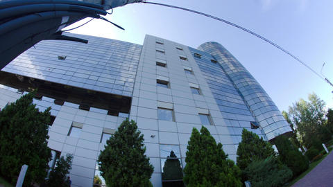 Business Building In Bucharest, Modern Architecture,… Stock Video Footage