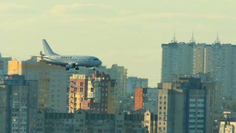 passenger plane landing Footage