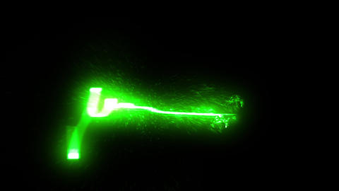 green Particle circle stroke light line effect Animation