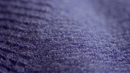 Purple woven wool texture extreme close up stock footage Live Action