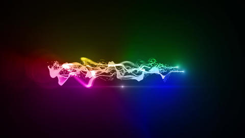 rainbow Particle circle stroke light line effect Animation