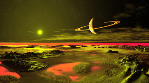 Alien Landscape Animation