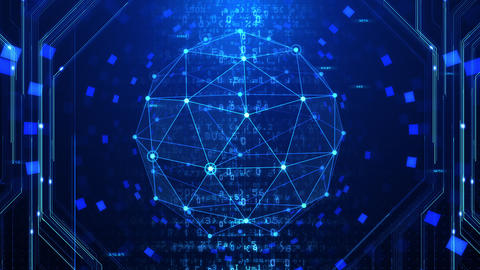 Digital data computer AI technologies concepts Background 5 blue28 Animation