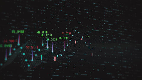 Animated financial information related to stock market, stocks, trading Live Action