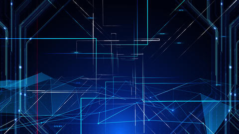 Digital data computer AI technologies concepts Background 5 blue08 CG動画