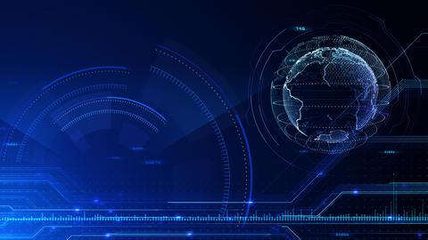 Digital data computer AI technologies concepts Background 5 blue13 CG動画