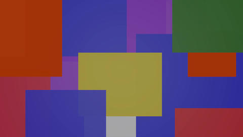 Multicolored background composed of color changing overlapping rectangles with Animation