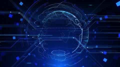 Digital data computer AI technologies concepts Background 5 blue06 CG動画