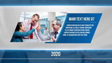 Corporate Timeline Slideshow After Effects Template