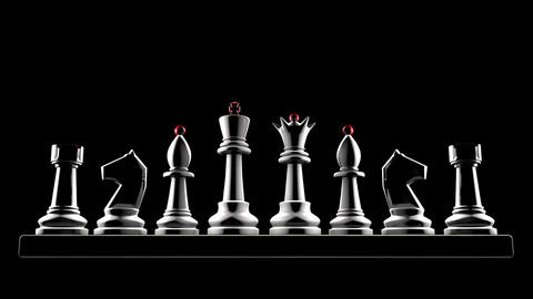 Successful career (chess metaphor). 3d animation. Full HD... Stock Video Footage