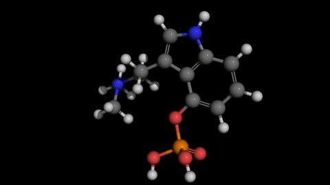 psylocibin molecule modell rotating Animation
