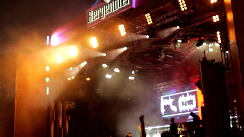Stage Lights, Artists On Scene, Summer Rock Festival, Flashing Lights, Concert Footage