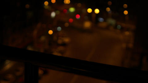 Drunk Man Point Of View From Balcony, Street Late At Night, Suicide Thoughts 2 Footage