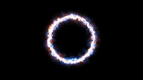 Flame Portal Ring CG動画素材