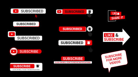 Subscribe Titles After Effects Template