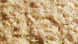 Oatmeal cookie in extreme close up stock footage Live Action