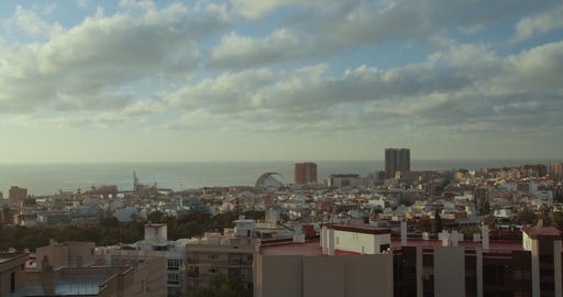 Timelapse. City of Santa Cruz de Tenerife. The capital of the Canary Islands in Live Action
